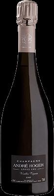 Packshot bouteille vieille vigne Champagne André Roger